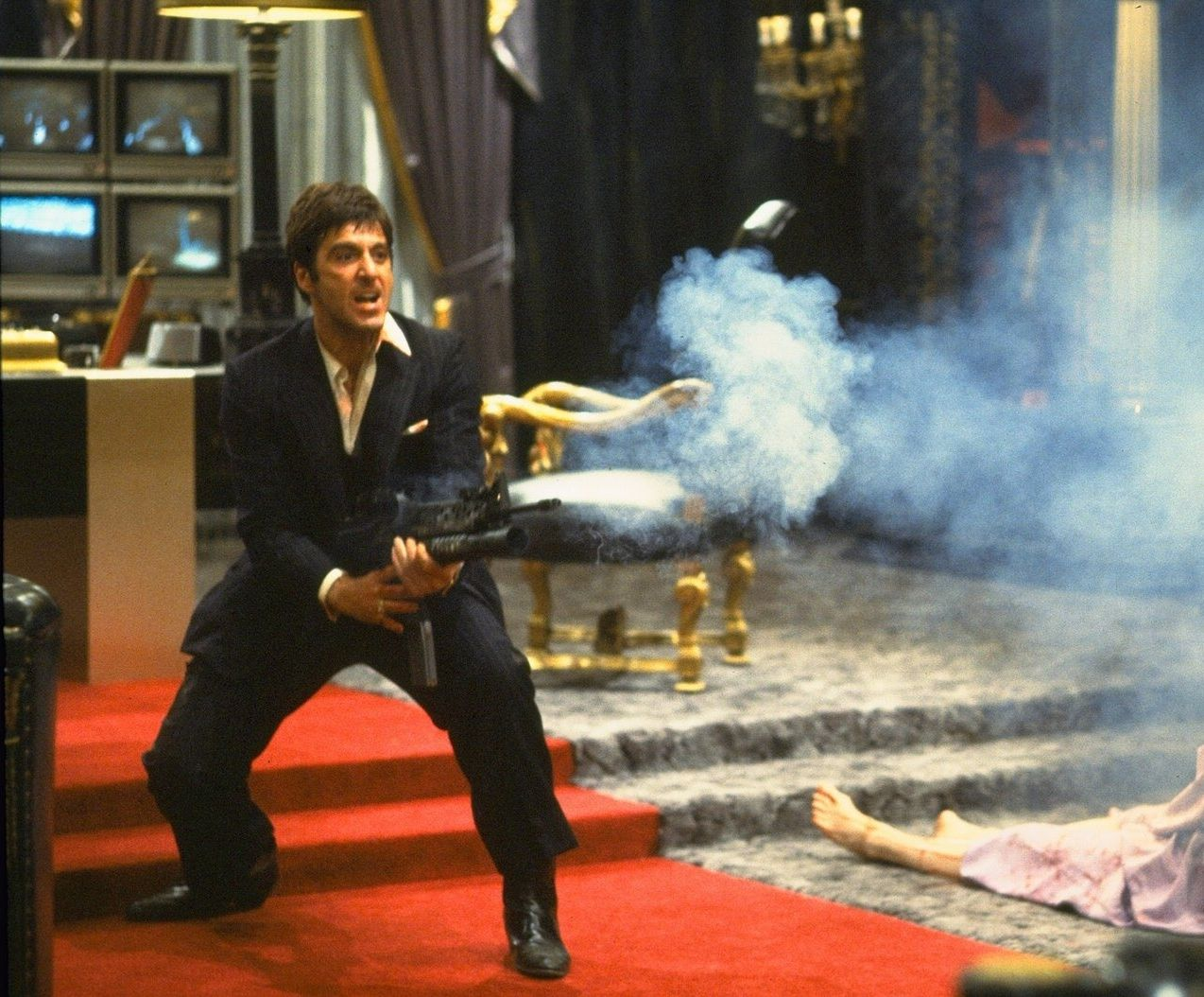 Al Pacino Scarface Say Hello To My Little Friend Classic For Gun