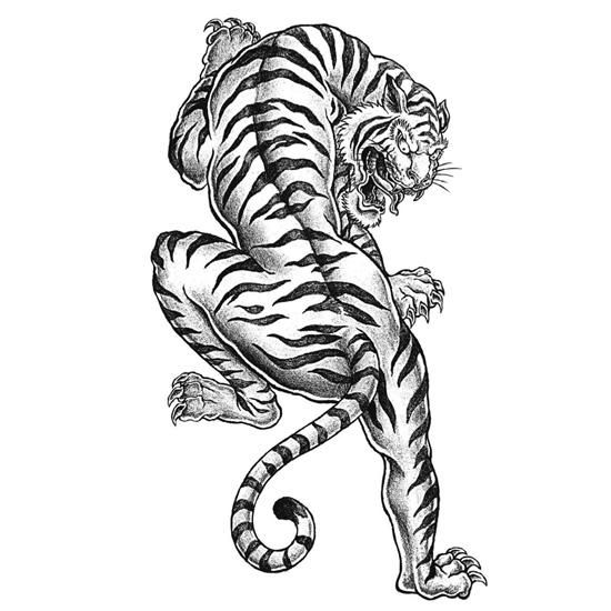 Tiger Tattoo Coloring Page Adult Coloring Tiger Tattoo