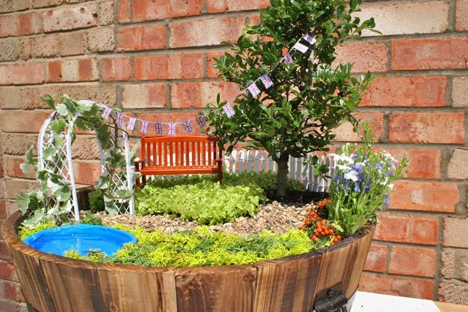 Step 14   Add The Miniature Wooden Garden Bench Between The Tree And The  Arbour