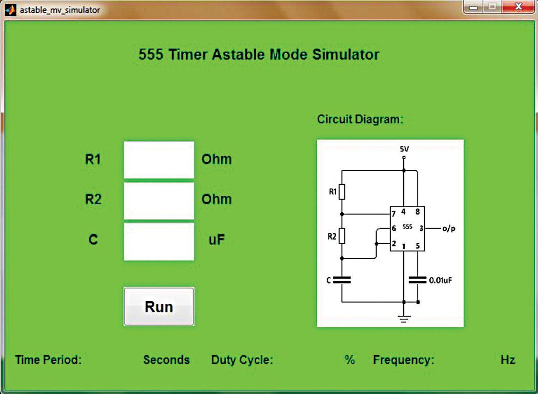 Demo Of 555 Timer Based Astable Multivibrator Using Matlab Oscillator Circuit In Analogue Electronics Oscillators And Their Implementation Integrated Circuits Ics Is An Important Subject As Ic Easy To Understand