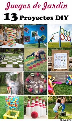 No Solo Diy 13 Juegos Diy Al Aire Libre Games Juegos Juegos