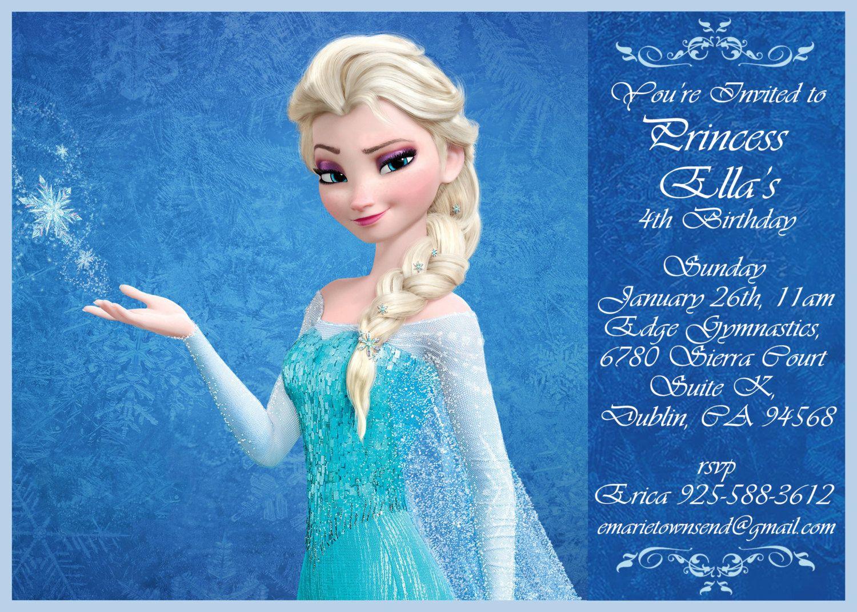 frozen birthday invitation disney s