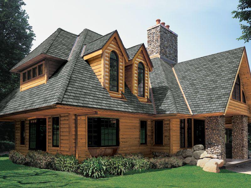 Bristol Gray Gaf Designer Roof Shingles Home Roofing Vinyl Log Siding Cedar Shingle Siding