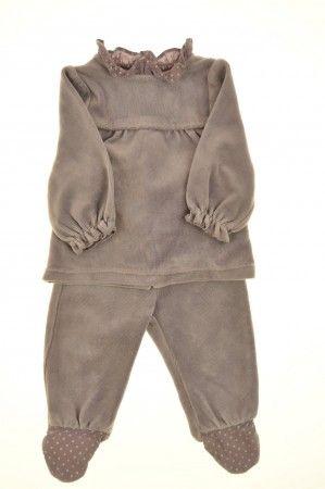 eac074b7216cd Pyjama en velours éponge de la marque Obaïbi en taille 1 mois - Affairesdeptits  vetement occasion enfant bebe pas cher