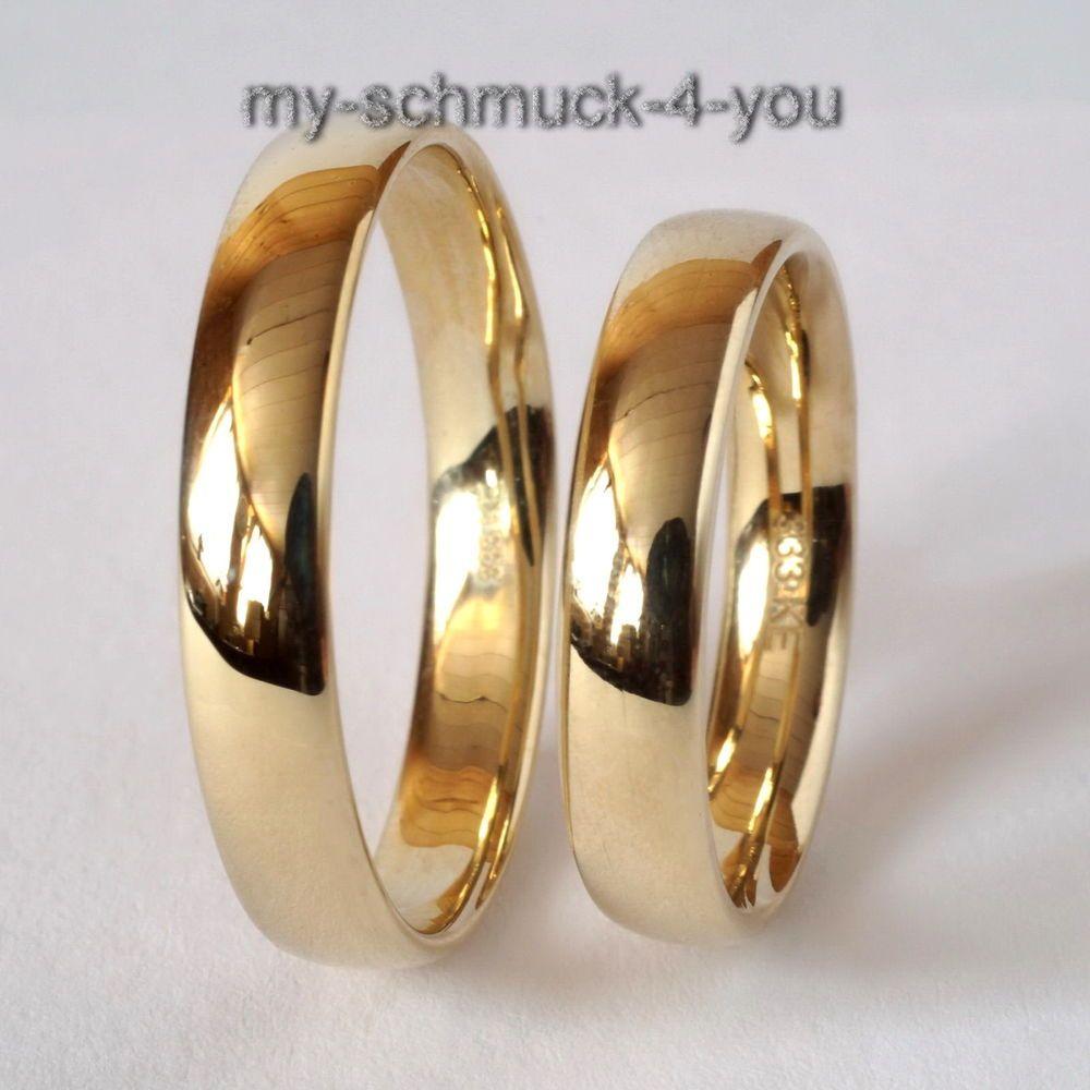Details Zu Trauring Verlobungsring Ehering Echt Gold 333 8karat