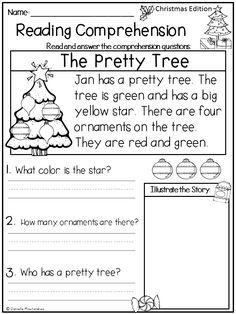 11+ Christmas reading worksheets for 1st grade Images