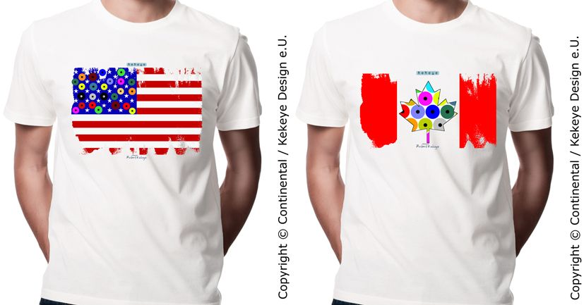 2 new Dots Designs for the new markets! #USA & #Canada #Flag #Tshirts *Europe WebShop:* http://www.webshop.kekeye.at/T-shirt-Creations/City-Travel-Tshirts/ *USA & Canada WebShop:* http://www.kekeye.us/T-shirt-Creations/City-Travel-Tshirts/