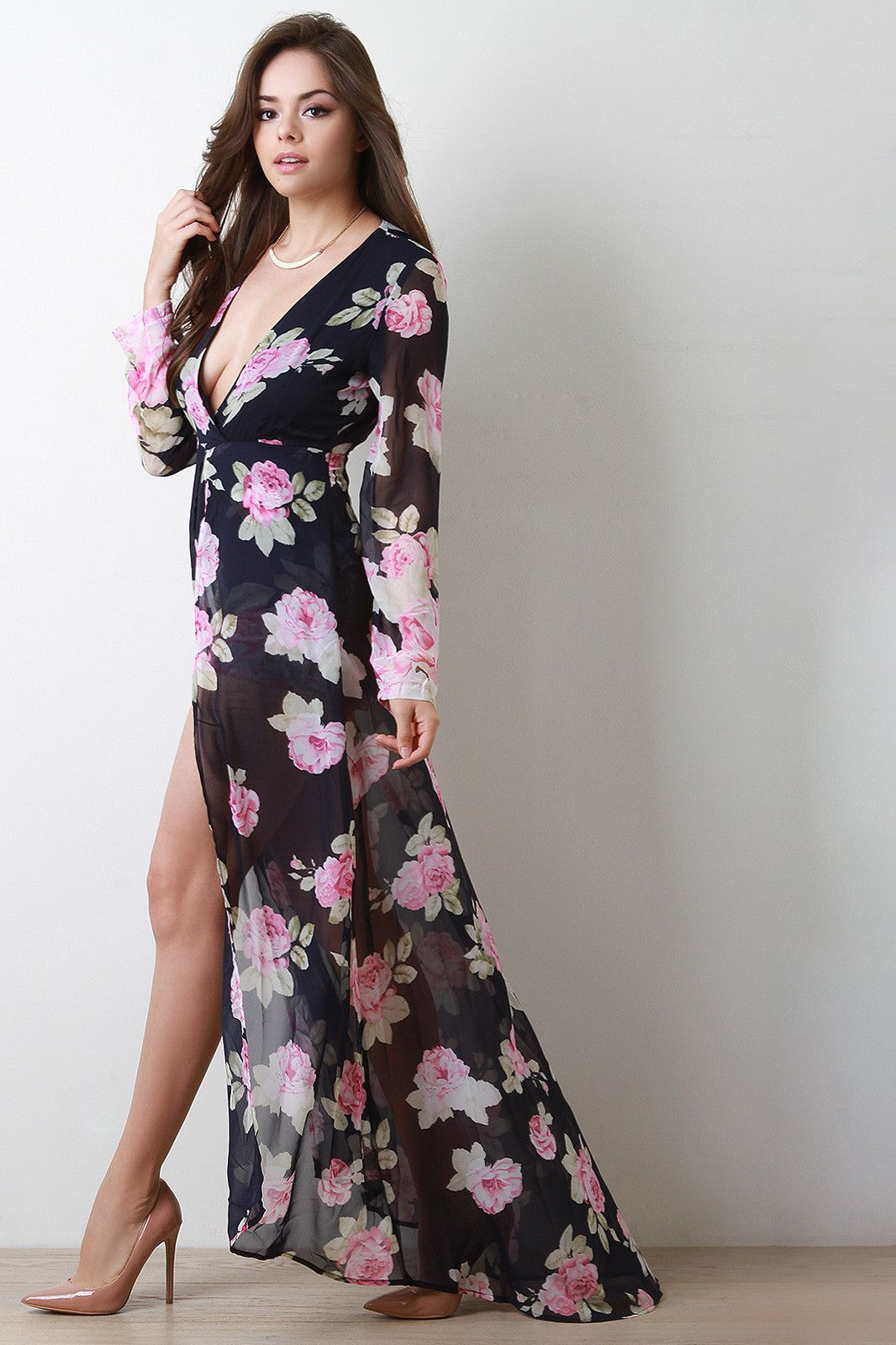 Sheer maxi skirt over long sleeve romper products pinterest