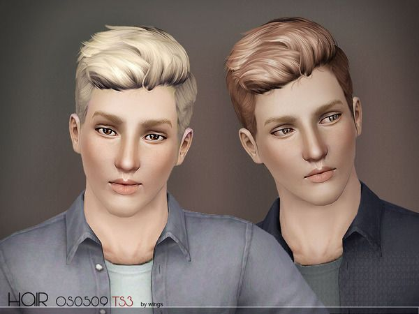 Wingssims Wings Os0509 M Sims 3 Male Hairstyle Sims Hair Sims 4 Hair Male Sims