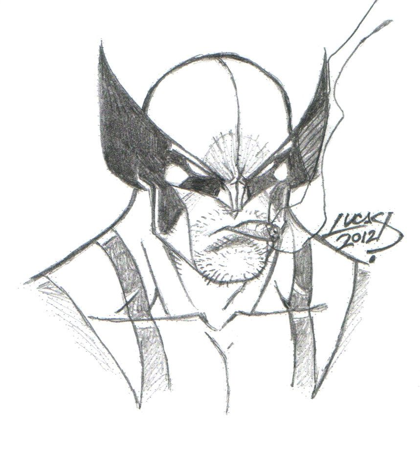 Wolverine SKETCH 2012 III by LucasAckerman on deviantART