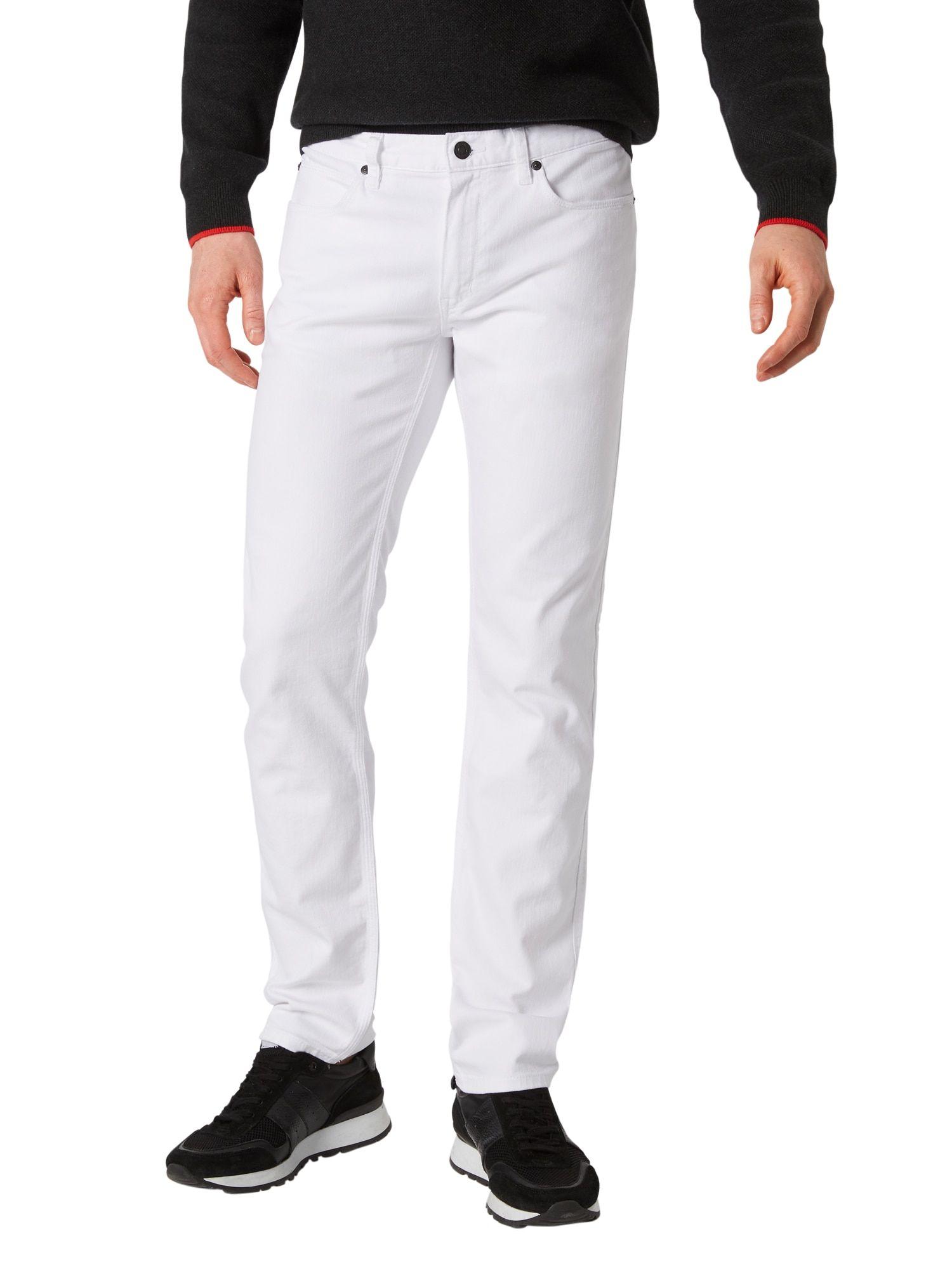 HUGO Jeans 'Hugo 708' Herren, White Denim, Größe 35 #whitepantsuit