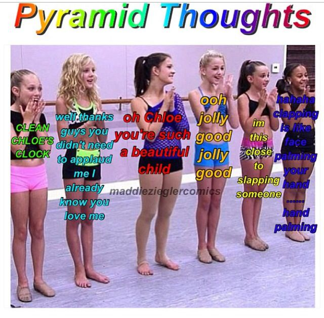 Pyramid Thoughts Dance Moms Funny Dance Moms Dancers Dance