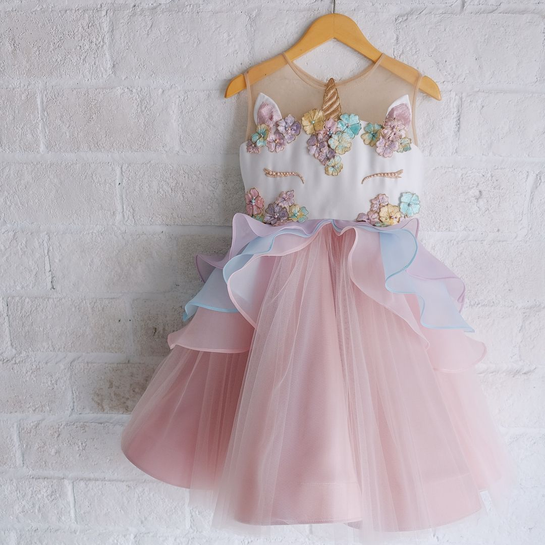 Unicorn dress honeybeekids honeybee kids instakids for Diy party dress
