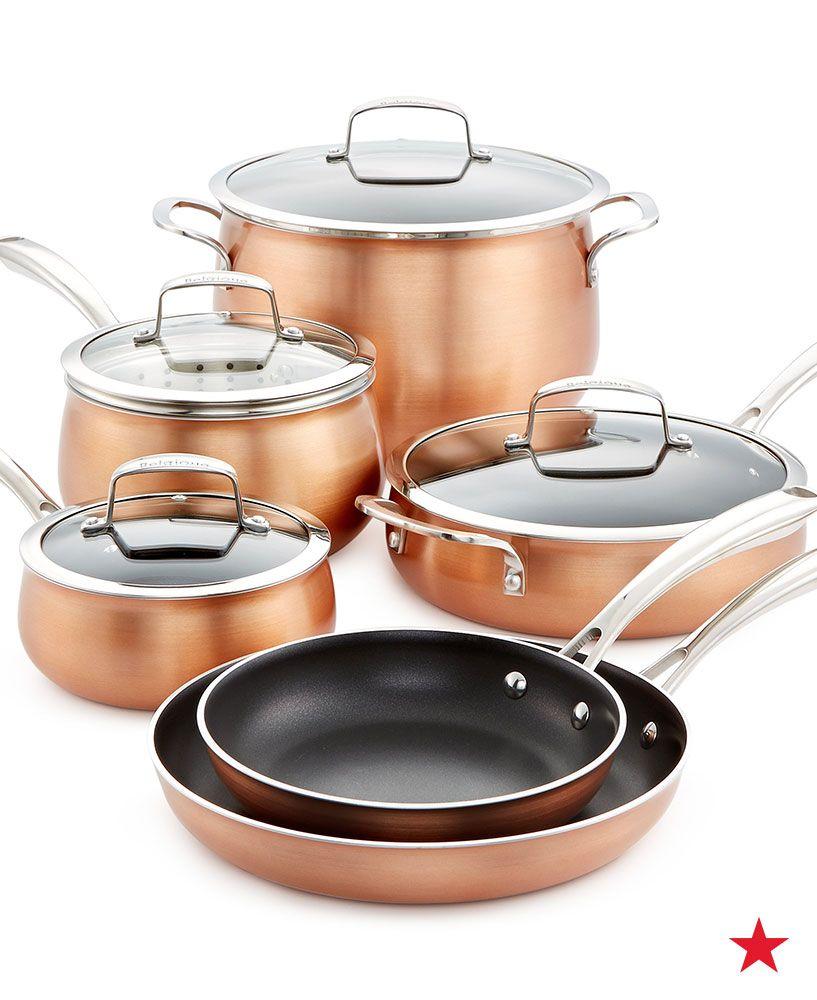 Belgique copper translucent 11piece cookware set created