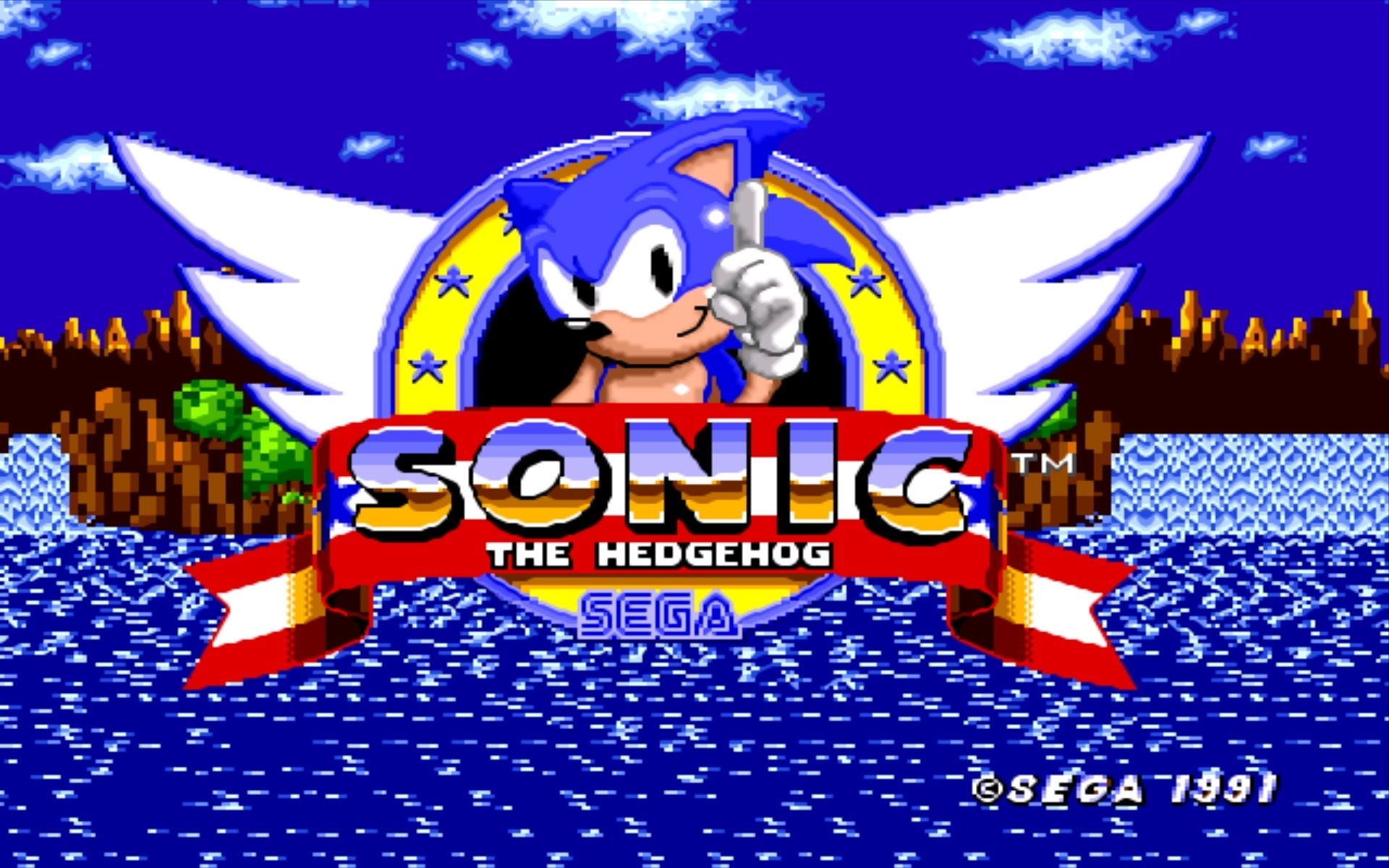 Download 1920x1200 Sonic The Hedgehog Video Games Sega Intended