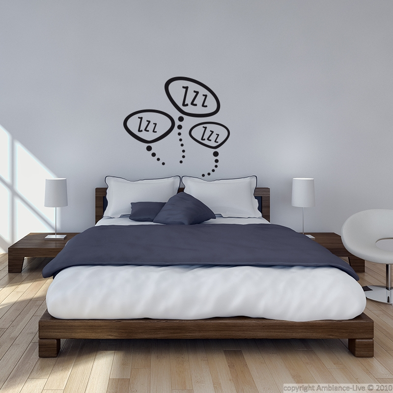 Zzz Zzz Bedroom Wall Decal Wall Decals For Bedroom Cute Wall Decor Wall Decals
