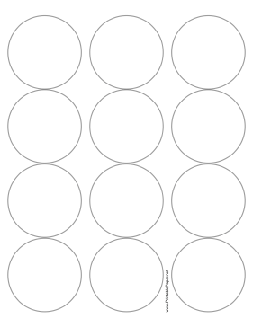 This printable paper has 12 2.5 inch circles for making