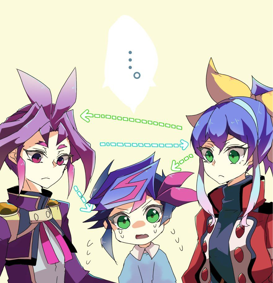 Yuri, Yusaku and Serena