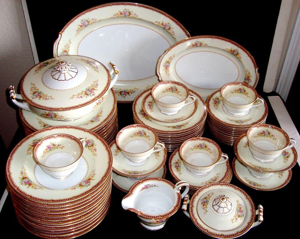 Antique/Vintage Noritake china 80pc Dinnerware Set RARE ...