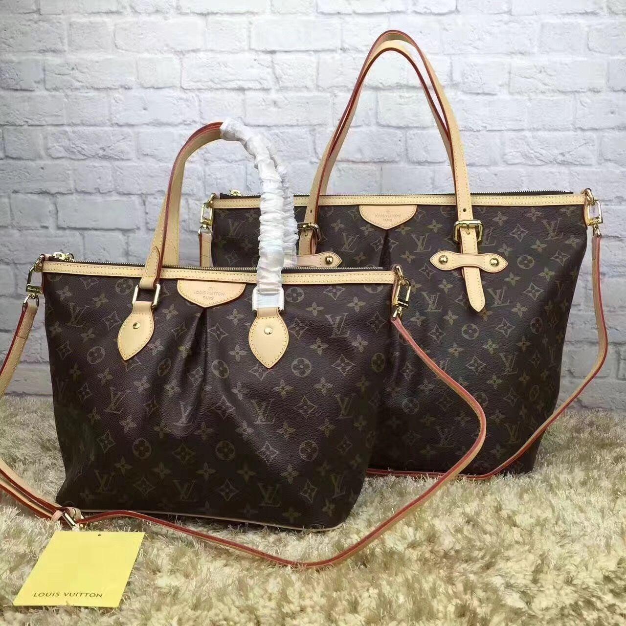 34685a38fa43 Louis Vuitton lv palermo bag MM GM