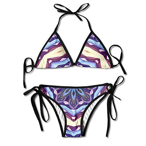 87ef1274daea4 ALEISIN Mandala Art Flower Floral Bikini Women s Summer Swimwear Triangle  Top Bikinis Swimsuit Sexy 2-