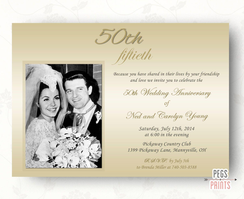 50th Wedding Anniversary Invitations - 50th Anniversary Invitation ...