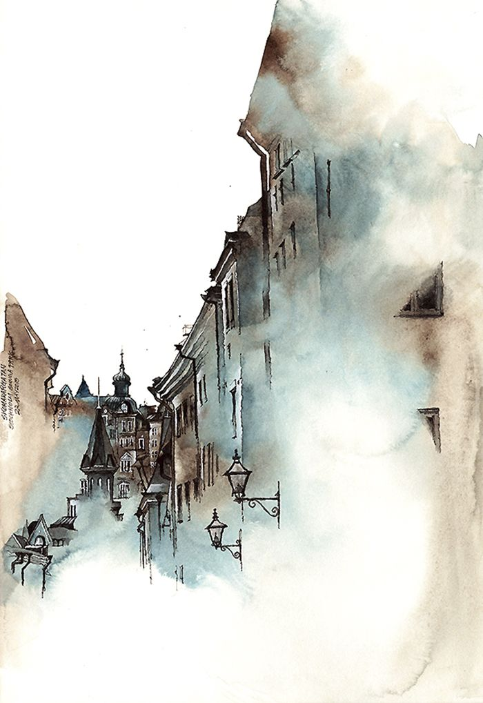 Korean Artist Watercolors Cities She Visits