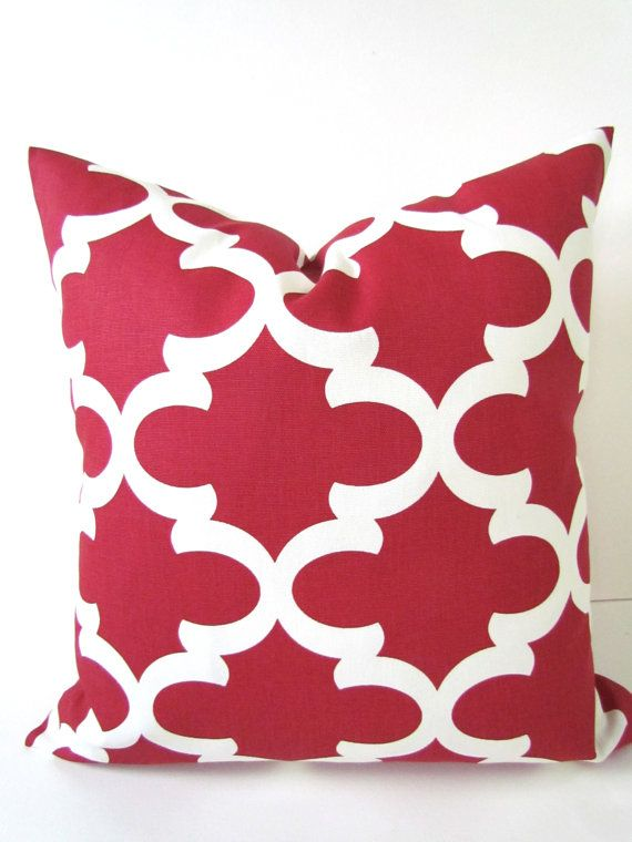 PILLOW COVERS RED 16x16 Decorative Throw by SayItWithPillows, $15.95