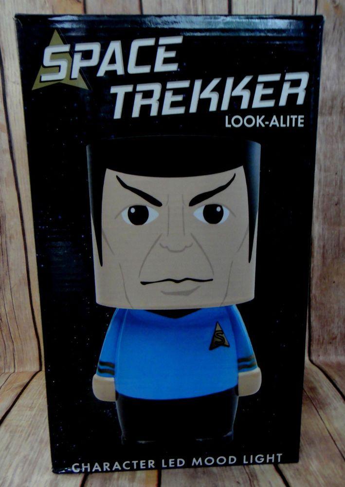 Space Trekker Look A Lite- LED Lit Character Mood Light TV Memorabilia Collector #decor #startrek #spock #memorabilia #bedroom #kids #fan