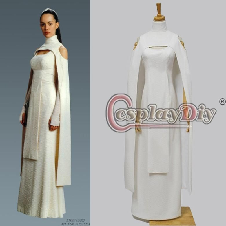 Custom Made Adult Women's Star Wars Sheltay Retrac Cosplay Dress ...