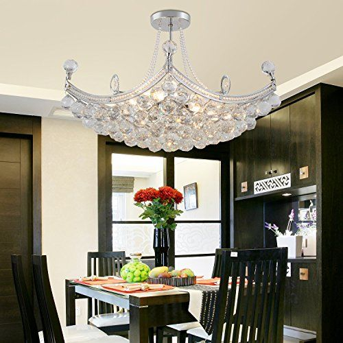 Oofay light simple and elegant crystal chandelier living room lamp 6 oofay light simple and elegant crystal chandelier living room lamp 6 bedroom modern crystal chandelier crystal chandelier restaurant to view fur mozeypictures Choice Image