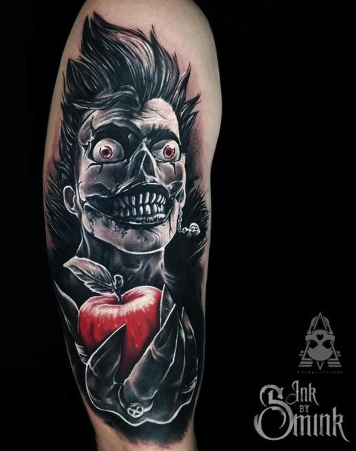 Ryuk Done By Will Smink True Love Tattoo In London Ontario Tattoos Skull Girl Tattoo True Love Tattoo