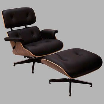 Wondrous Eames Mcl Full Grain Leather Lounge Chair And Ottoman By Ncnpc Chair Design For Home Ncnpcorg