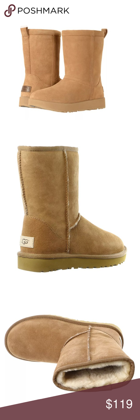 5f8d6fae10fa Ugg women s classic short waterproof snow boot Brand new in box (chestnut  color) size 5 women s