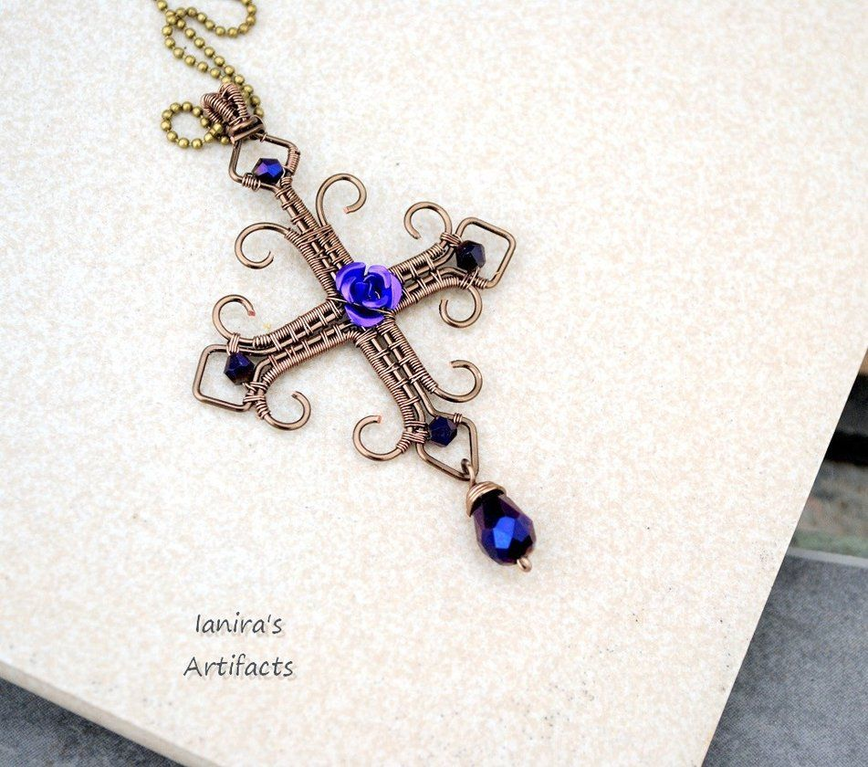 Goth wire wrapped cross 2 by ~IanirasArtifacts on deviantART ...