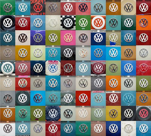 Volkswagen Beetle Retro 4k Hd Wallpaper: VW Emblem Collage Wallpaper