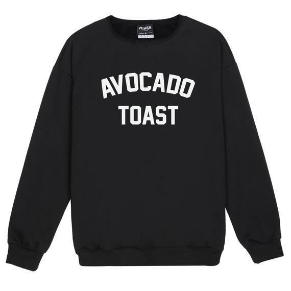 Avocado Toast Sweater Jumper Womens Ladies Fun Tumblr Hipster Swag Fashion Grunge Goth Top Cute Harajuku Sassy Kawaii Slogan Fashion Vegan #grungegoth