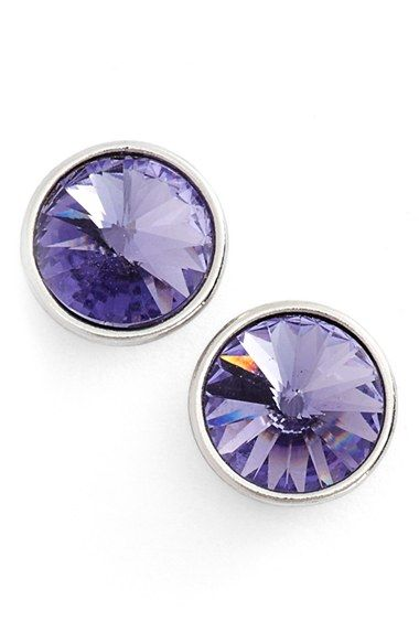 Givenchy 'Crescent' Crystal Stud Earrings