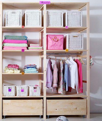 Cabina armadio: idee originali per crearne una low cost | ivar ideas ...