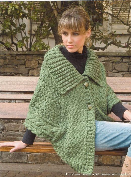 ce47a89db9e7 Теплый зеленый пуловер с заниженной проймой. Обсуждение на ...