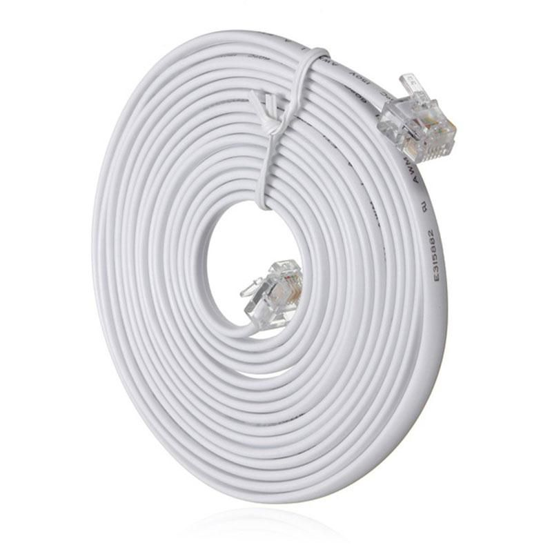 High Quality 10m Super Speed RJ11 To RJ11 Telephone Cable Cord 4 Pin ...
