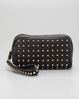 b292a11cff04 Pyramid Stud Clutch Bag