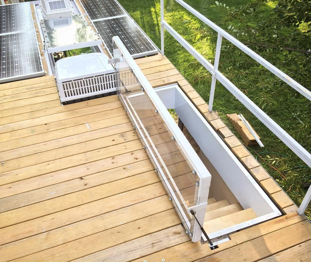 Build Up Top Of Bus Creating Deck With Solar Coastal