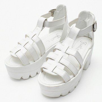 gladiator platforms| $12.95  grunge punk nu goth pastel goth harajuku fachin platforms shoes heels under20 under30 newchic