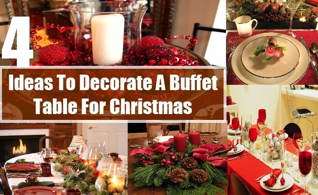 How To Decorate A Buffet Table For Christmas