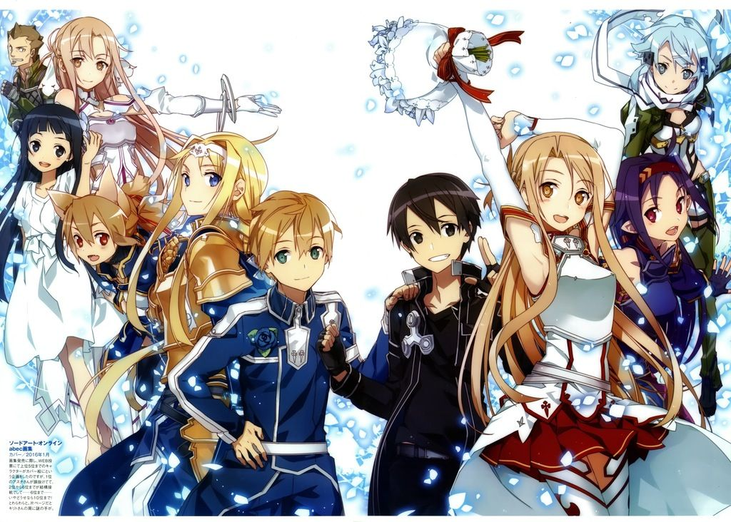 Sword Art Online Abec Art Works Full Cover Illustration Lightnovels Personajes De Anime Arte De Anime Arte De Personajes