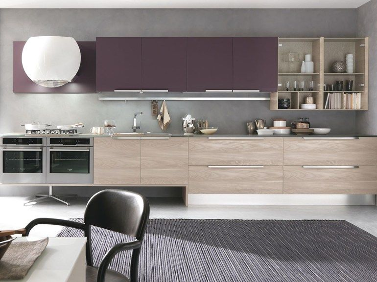 Linear Wood Veneer Kitchen Chantal By Febal Design Alfredo