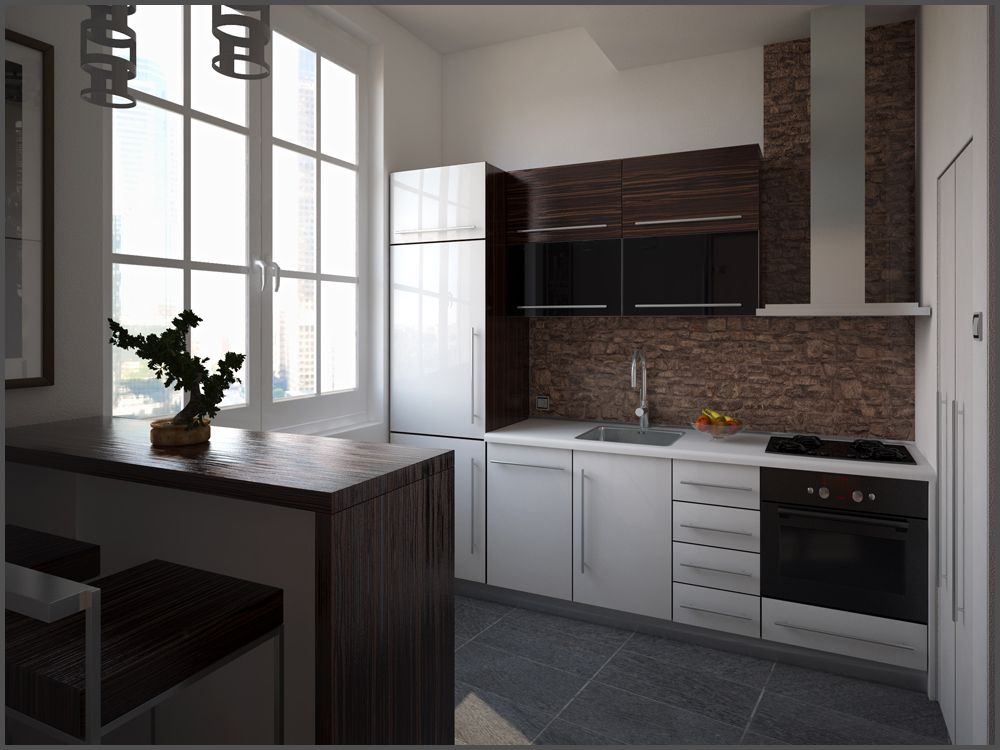 Small Kitchen 3D Visualisation  Scale Studio  Serbia  Modern Endearing Kitchen 3D Design Decorating Design