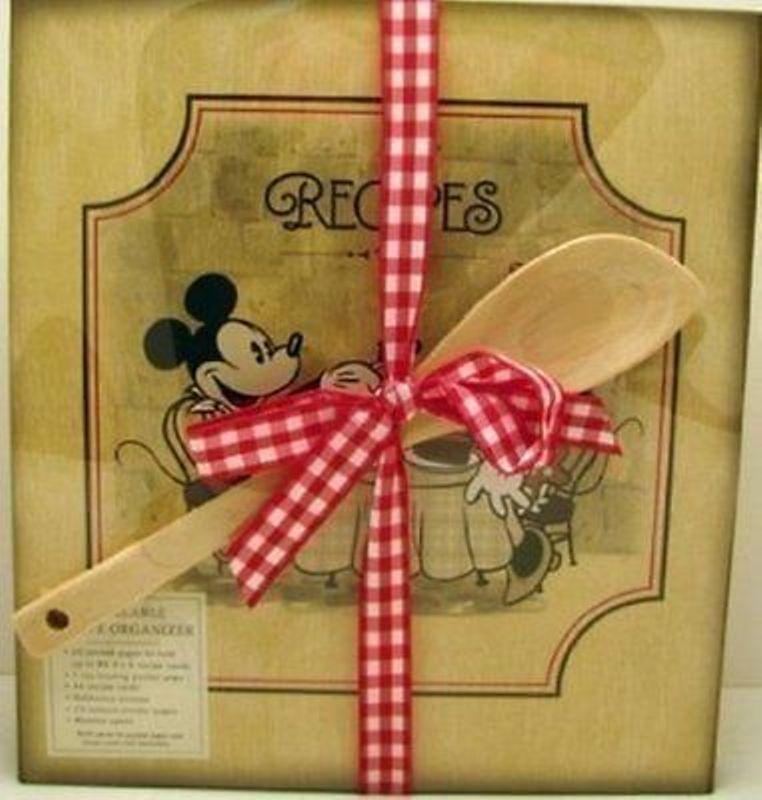 Hallmark Recipe Book TOG1017 Mickey and Minnie Recipe Organizer Gift Set*