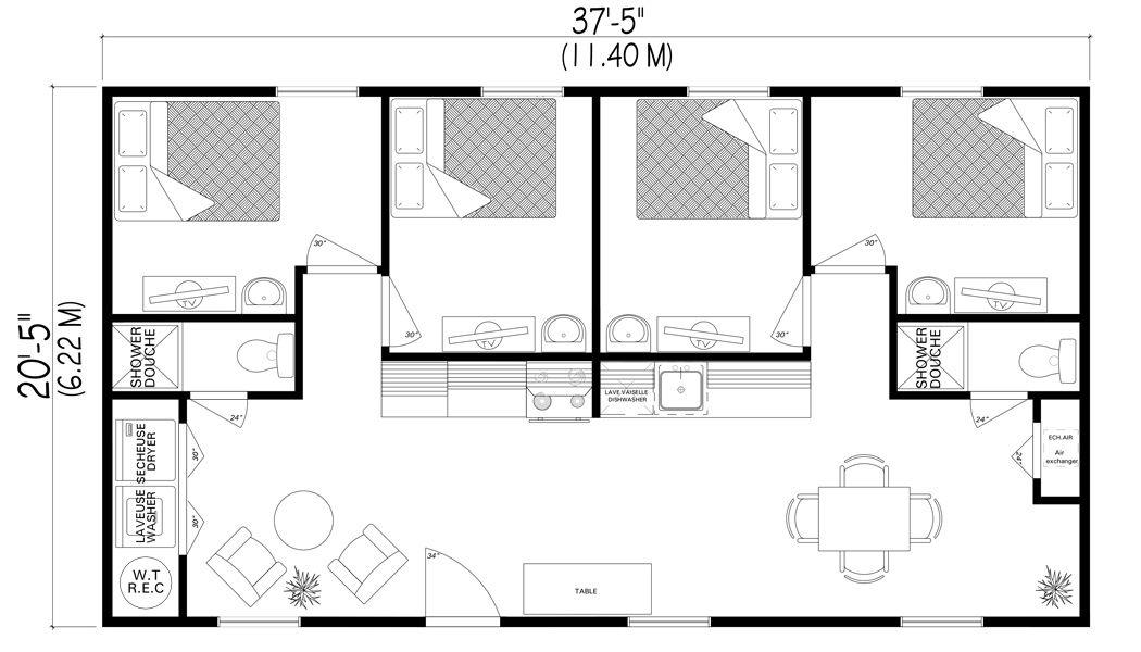 HABITAFLEX - Habitation dépliable et transportable, maison